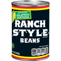 RANCH STYLE Beans With Sliced Jalapeño Peppers, 15 oz.