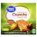 Great Value Oats & Honey Crunchy Granola Bars, 1.48 oz, 6 count