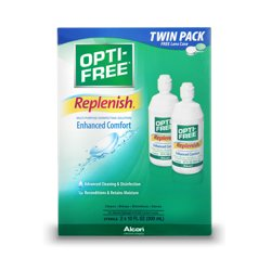 Replenish Multipurpose Contact Lens Disinfecting Solution, 10 Fl Oz Twin Pack