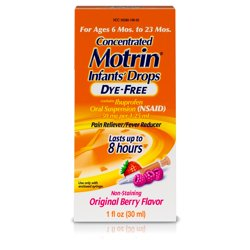 Infants' Motrin Liquid Medicine Drops with Ibuprofen, Berry, 1 fl. oz