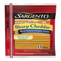 Sargento® Sliced Sharp Natural Cheddar Cheese, 11 slices