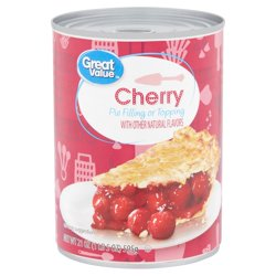 Great Value Cherry Pie Filling or Topping, 21 oz