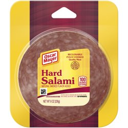 Oscar Mayer Hard Salami With Natural Smoke Flavor Added, 8 oz Vacuum Pack
