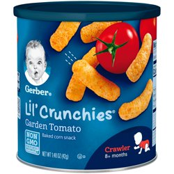Gerber Lil' Crunchies Baked Corn Snack, Garden Tomato, 1.48 oz.
