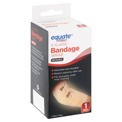 "Equate 4"""" Elastic Bandage Wrap Reusable, 1 Roll"