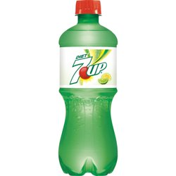 7UP Diet Caffeine-Free Lemon Lime Flavored Soda, 20 Fl. Oz.