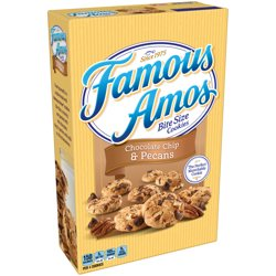 Famous Amos Chocolate Chip & Pe cans Cookies Bite Size 12.4 oz.