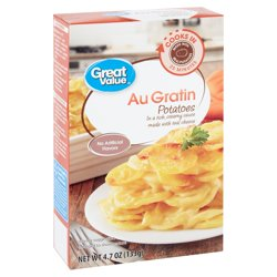 Great Value Au Gratin Potatoes, 4.7 oz