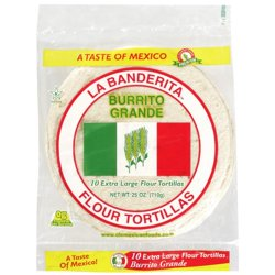 La Banderita Burrito tortilla, 10in, 10ct