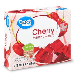Great Value Cherry Gelatin Dessert, 3 oz