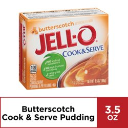 Jell-O Cook and Serve Butterscotch Pudding, 3.5 oz Box