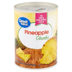 Great Value Pineapple Chunks, 20 oz