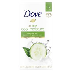 Dove Beauty Bar Cucumber and Green Tea 3.75 oz 6 Bars