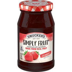 Smucker's Simply Fruit Strawberry Spreadable Fruit, 10-Ounce Jar
