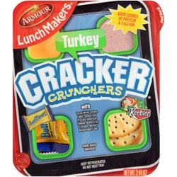 Armour Lunchmakers Portable Meal Kit with Turkey, Cheese, Crackers, and Treat, 2.44 oz