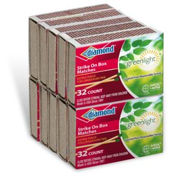 Diamond Greenlight Matches, 10 Pack