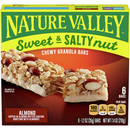 Nature Valley Sweet & Salty Nut Chewy Granola Bars, Almond, 6 Ct, 7.4 Oz