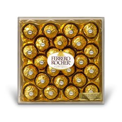 Ferrero Rocher Chocolates Diamond Gift Box, 10.6 Oz., 24 Ct.