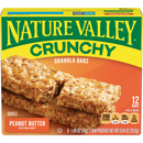 Nature Valley Crunchy Granola Bars, Peanut Butter, 12 Ct, 8.94 Oz