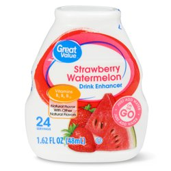 Great Value Liquid Drink Enhancer, Strawberry Watermelon, 1.62 fl oz