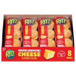 RITZ Cheese Sandwich Crackers, 8 - 1.35 oz Packs (6 Boxes)
