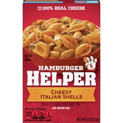 Hamburger Helper Cheesy Italian Shells Hamburger Helper 6.1 Oz