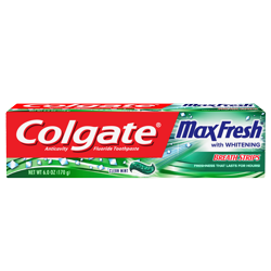 Colgate Max Fresh Toothpaste with Mini Breath Strips, Clean Mint - 6 ounce