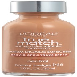 L'Oreal Paris True Match Super-Blendable Foundation Makeup, Honey Beige, 1 fl. oz.