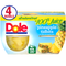 Dole Fruit Bowls Pineapple Tidbits in 100% Fruit Juice, 4 Oz All Natural Fruit Bowls, 4 Cups of Fruit