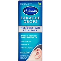 Hyland's Earache Drops, Natural Earache Relief for Adults and Children, 0.33 Ounce