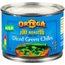 Ortega® Fire Roasted Mild Diced Green Chiles 4 oz. Can