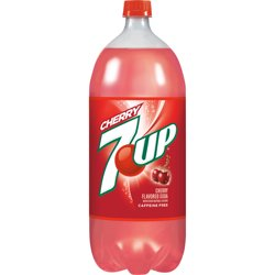 7UP Caffeine-Free Cherry Flavored Soda, 2 L