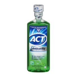 ACT® Anticavity Alcohol Free Mint Mouthwash, 18oz