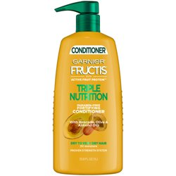 Garnier Fructis Triple Nutrition Conditioner, Dry to Very Dry Hair, 33.8 fl. oz.