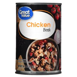Great Value Chicken Broth, 14.5 oz