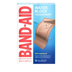 Band-Aid Brand Water Block Tough Strips Bandages, Extra Large, 10 ct