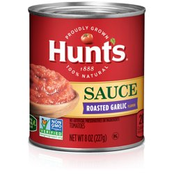 Hunts Tomato Sauce with Roasted Garlic 8 oz