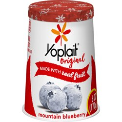 Yoplait Original Yogurt, Blueberry, Low Fat, 6 oz
