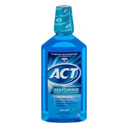 ACT® Restoring® Anticavity Fluoride Cool Mint Mouthwash 33.8oz