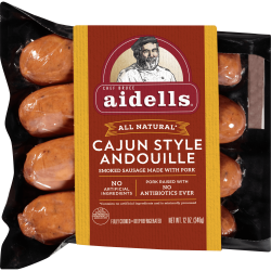 Aidells® Smoked Pork Sausage, Cajun Style Andouille, 12 oz. (4 Fully Cooked Links)