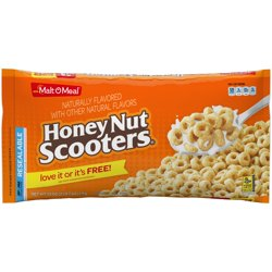 Malt-O-Meal Breakfast Cereal, Honey Nut Scooters, 39 Oz