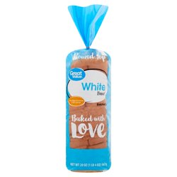 Great Value White Round Top Bread, 20 oz