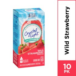 Crystal Light Sugar Free Wild Strawberry Powdered Drink Mix, 10 ct - 0.11 oz Packets
