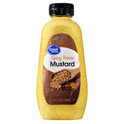 Great Value Spicy Brown Mustard, 12 oz