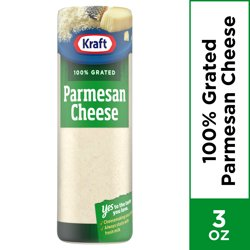 Kraft Grated Cheese, Parmesan Cheese, 3 oz Bottle