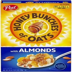 Honey Bunches Of Oats Breakfast Cereal, Almonds, 18 Oz