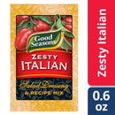 Good Seasons Zesty Italian Dry Salad Dressing and Recipe Mix, .6 oz Packet