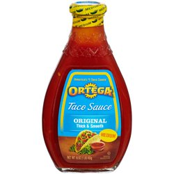 Ortega® Original Medium Taco Sauce 16 oz. Glass Bottle