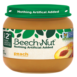 Beech-Nut® Baby Food Jar, Stage 2, Peach, 4 oz