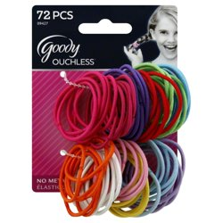 Goody Girls Ouchless Elastics Assorted Colors 2mm Hair Ties 72 Ct